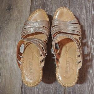 Born Metallic Wedge Sandals